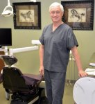 "Dr. Greene in his ""Dentist Den"""